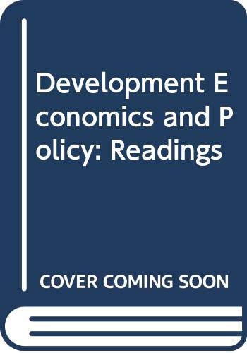 9780043820261: Development Economics and Policy Readings