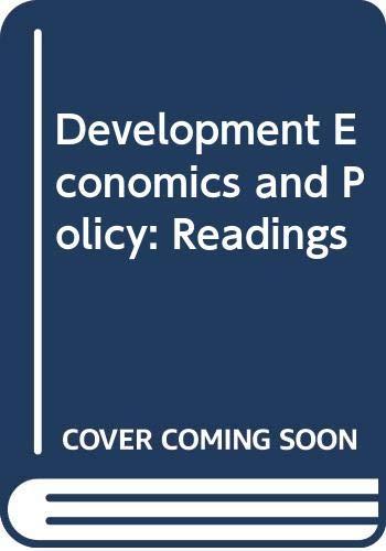 9780043820261: Development Economics and Policy: Readings