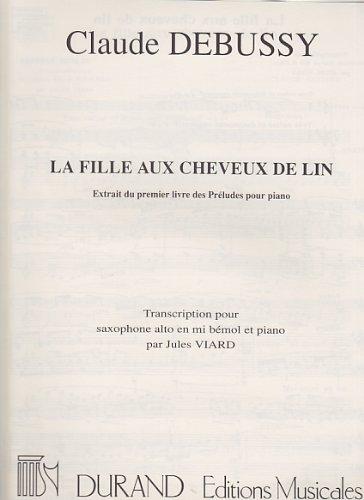9780044014096: La Fille Aux Cheveux De Lin Sax-Piano