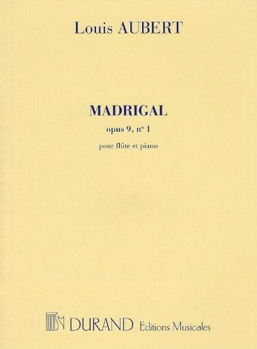 9780044030744: Madrigal, Opus 9 N. 1 - Pour Flute Et Piano