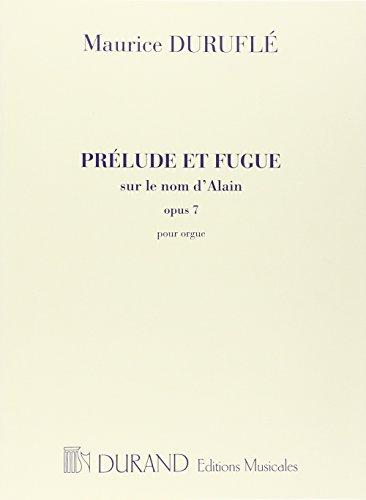 9780044059202: DURAND DURUFLE - PRELUDE ET FUGUE OP 7 - ORGUE Classical sheets Organ