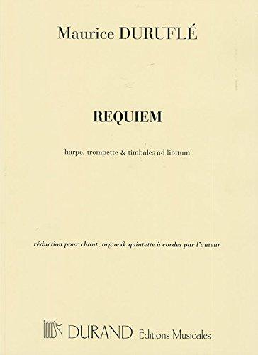 9780044065838: DURAND DURUFLE M. - REQUIEM - CONDUCTEUR Classical sheets Full score