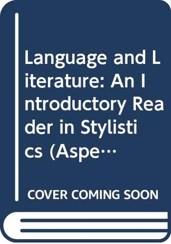 9780044070184: Language and Literature: An Introductory Reader in Stylistics (Aspects of English)