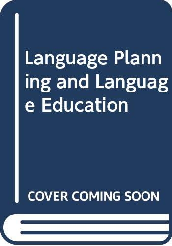 9780044070191: Language Planning and Language Education