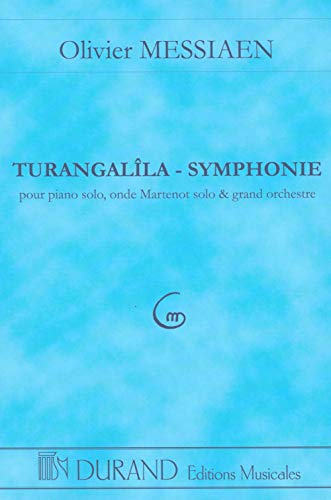 9780044070726: DURAND MESSIAEN - TURANGALILA - CONDUCTEUR POCHE Classical sheets Pocket score