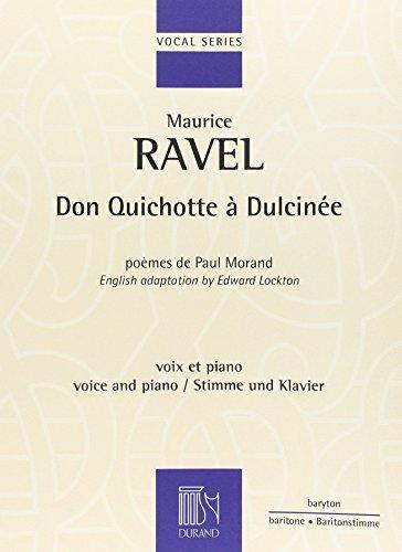 9780044080381: Partitions classique DURAND RAVEL MAURICE - DON QUICHOTTE A DULCINEE - BARYTON Voix solo, piano