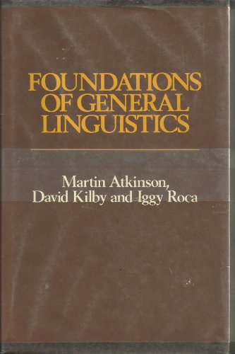 9780044100034: Foundations of General Linguistics