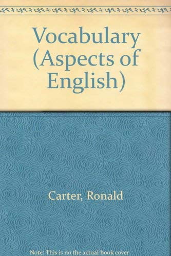 9780044180074: Vocabulary: Applied Linguistic Perspectives (Aspects of English)