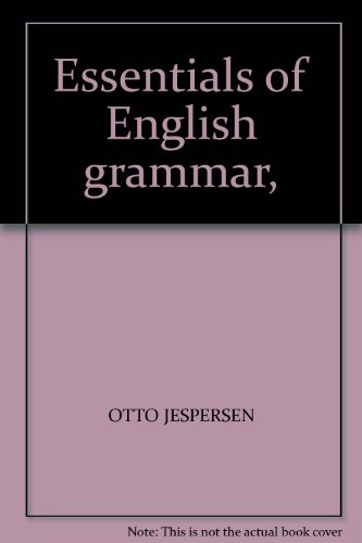 9780044250050: Essentials of English grammar,