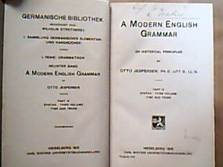 9780044250098: Modern English Grammar on Historical Principles: Syntax v.3