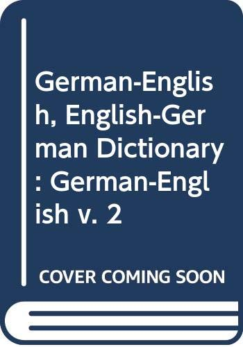 9780044330035: German-English, English-German Dictionary: German-English v. 2