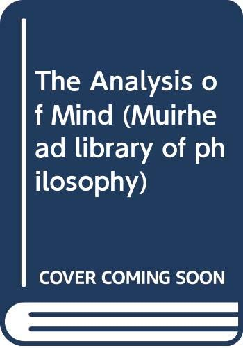 9780044405078: The Analysis of Mind