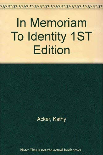 9780044405689: In Memoriam To Identity 1ST Edition