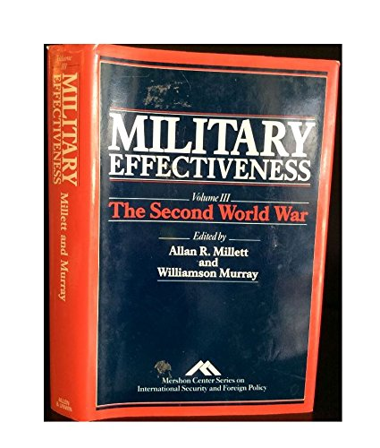 9780044450559: Military Effectiveness: The Second World War (Mershon Center series on international security & foreign policy)
