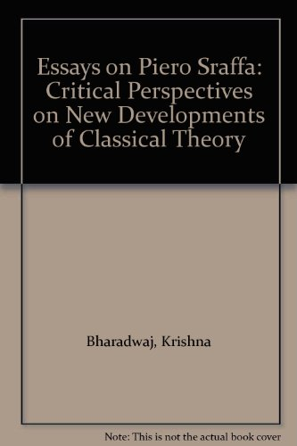 9780044452546: Essays on Piero Sraffa: Critical Perspectives on New Developments of Classical Theory