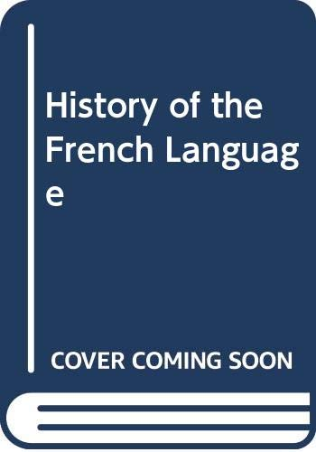9780044452959: A History of the French Language