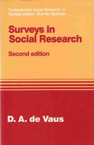 9780044457220: Surveys in Social Research (Contemporary Social Research)