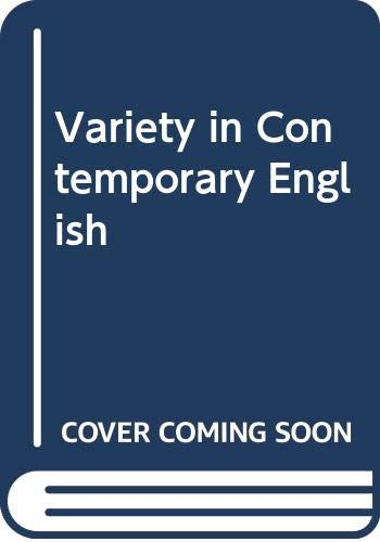 9780044457374: Variety in Contemporary English