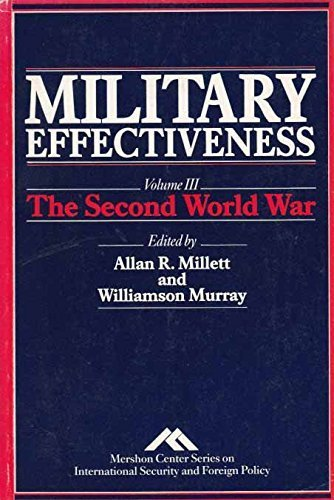 9780044458456: Military Effectiveness, Vol.3: The Second World War