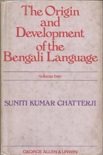 9780044910084: Origin and Development of the Bengali Language: v. 2