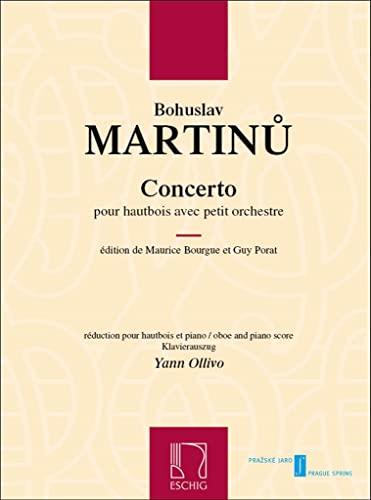 9780045045266: Bohuslav Martinu: Concerto Pour Hautbois Avec Petite Orchestre (Oboe and Piano). Partituras para Oboe, Acompañamiento de Piano