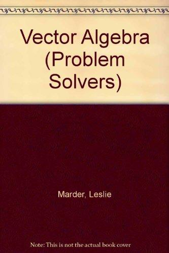 9780045120123: Vector Algebra (Problem Solvers)