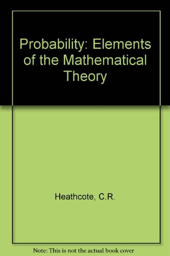 9780045190058: Probability: Elements of the Mathematical Theory