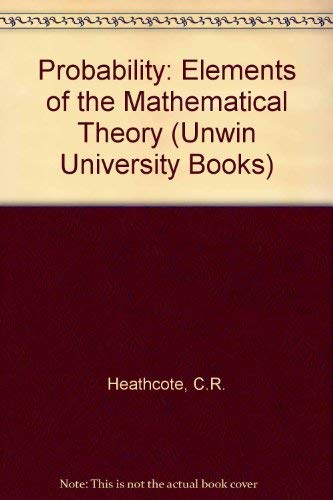 9780045190065: Probability: Elements of the Mathematical Theory