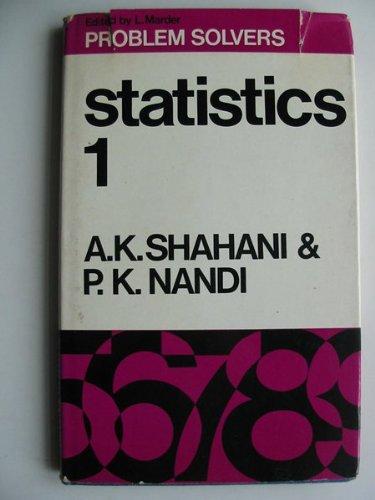 9780045190096: Statistics 1 (Problem Solvers)