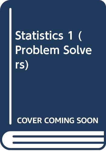 9780045190102: Statistics 1 (Problem Solvers)