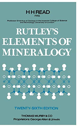 9780045490066: Rutley's Elements Of Mineralogy. Twenty-Sixth Edition