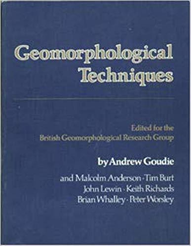 9780045510436: Geomorphological Techniques
