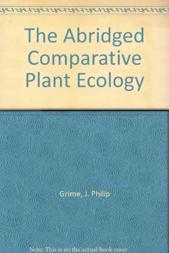 9780045810260: The Abridged Comparative Plant Ecology
