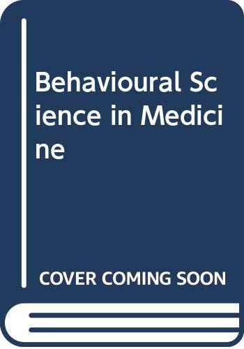 Behavioural Science in Medicine: Winefield, H.R. & Peay, M.Y.