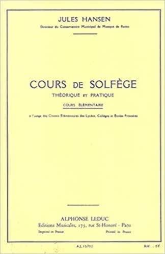 9780046157029: COURS DE SOLFEGE THEORIQUE ET PRATIQUE COURS ELEMENTAIRE
