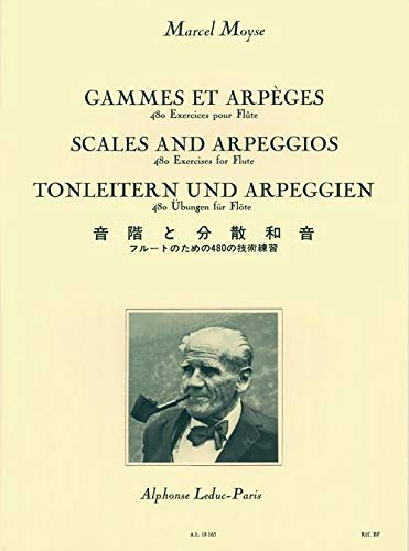 Gammes et Arpeges: 480 Exercices pour flute (Scales and Arpeggios: 480 Exercises for flute): Marcel...