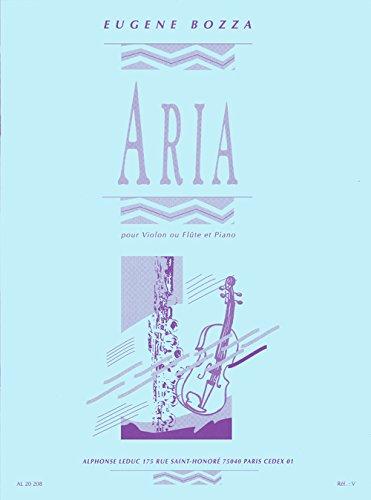 9780046202088: Aria for flute (or violin) & piano