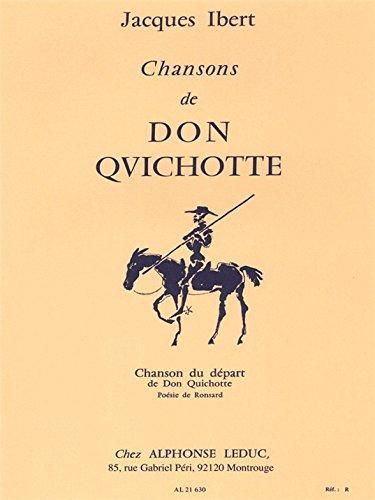 9780046216306: CHANSONS DE DON QUICHOTTE N01:CHANSON DU DEPART CHANT ET PIANO