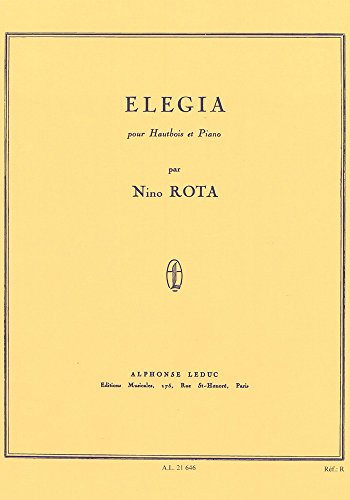 9780046216467: Nino Rota: Elegia (Oboe and Piano). Sheet Music for Oboe, Piano Accompaniment