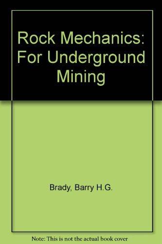 9780046220051: Rock Mechanics:For Underground Mining