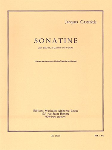 9780046233372: Jacques Casterede: Sonatina (Tuba/Saxhorn and Piano)