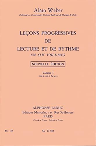 9780046236847: Leçons Progressives de lecture et de rythme Vol 1