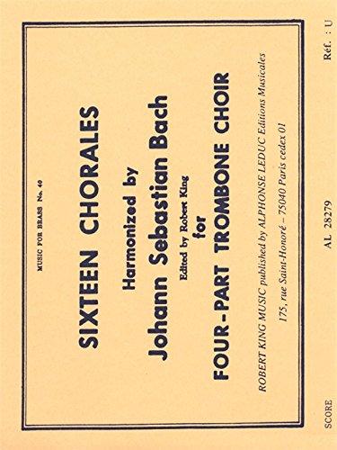 9780046282790: 16 CHORALES 4 TROMBONES/SCORE(PTION)MFB040
