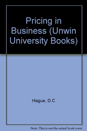 9780046581572: Pricing in Business (Unwin University Books)