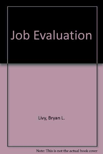 9780046582142: Job Evaluation (Unwin professional management library)