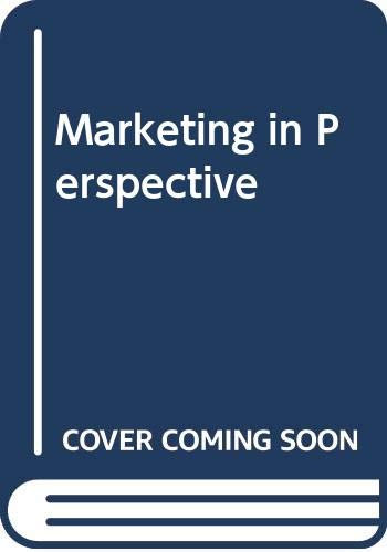 9780046582340: Marketing in Perspective