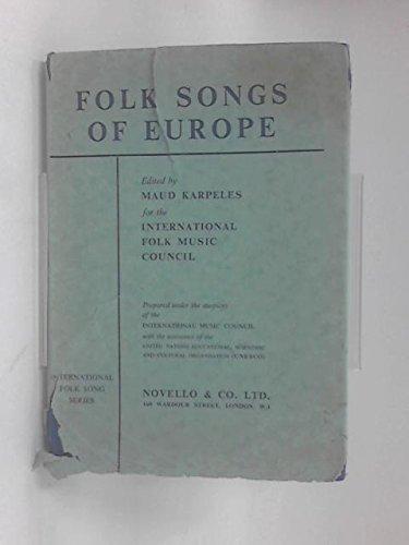 9780047840012: Folk Songs of Europe