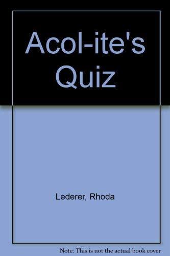 9780047930584: Acol-ite's Quiz