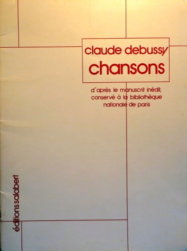 9780048005274: CHANSONS CHANT/PIANO RECUEIL