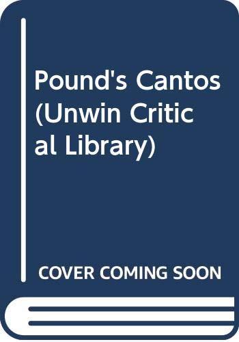 """9780048110015: Pound's """"Cantos"""" (Unwin Critical Library)"""
